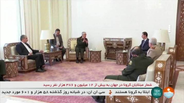 ifmat - Assad holds meeting with Iran armed forces chief of staff