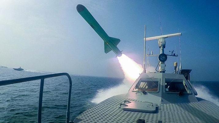 ifmat - IRGC launches underground ballistic missiles against mock US carrier