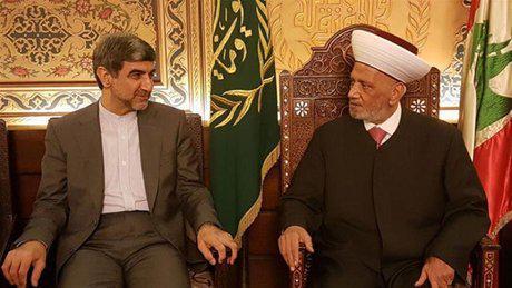 ifmat - Iranian ambassador meets grand Mufti - Iran Will Not Hesitate to Help Lebanon