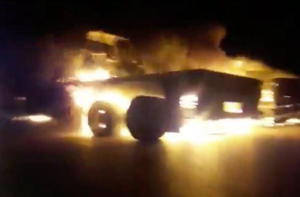 ifmat - US Military Convoy Attacked and Burned by Iranian-led Militias in Iraq