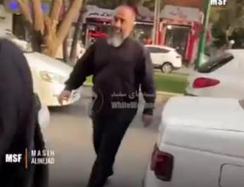 ifmat - Video of morality agent spits at girls not wearing hijab in Iran
