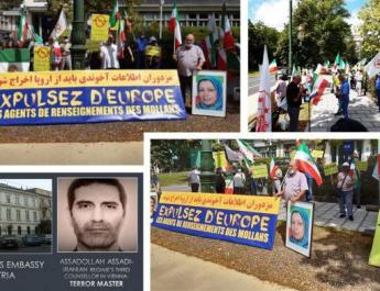ifmat - MEK and NCRI Supporters Rally in Belgium Condemning Iran Regime Terrorism
