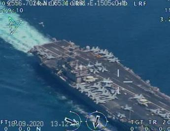 ifmat - Iran flew surveillance drone over US aircraft carrier near Persian Gulf