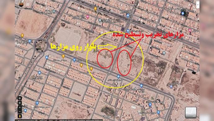 ifmat - Regime demolishes graves of MEK martyrs in Ahvaz to eliminate evidence of crimes against humanity