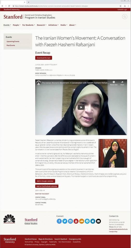 ifmat - Stanford-Faezeh-Hashemi-Rafsanjani-2020