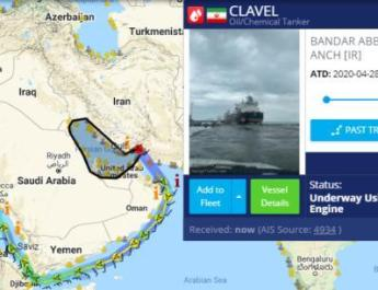 ifmat - Clavel oil tanker voyage from Bandar Abbas into the Mediterranean