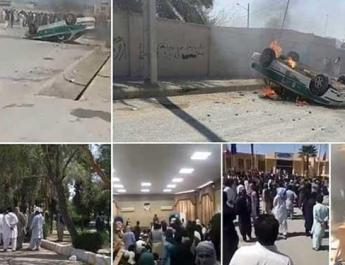 ifmat - Iran security forces fire tear gas to disperse protesters in Saravan