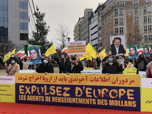 ifmat - Iranian nationals gather in Brussels to urge EU to sanction terrorist regime