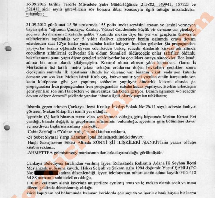 ifmat - Preliminary report filed by the police on a propaganda site maintained in the Turkish capital by the Quds Force