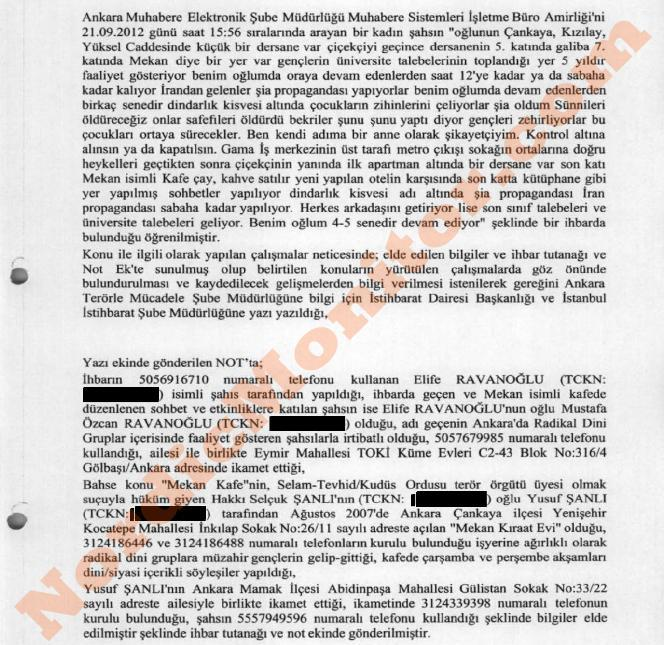 ifmat - complaint filed by a mother whose son was lured to a propaganda house in Ankara