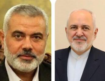 ifmat - Iran Zarif speaks with Hamas chief