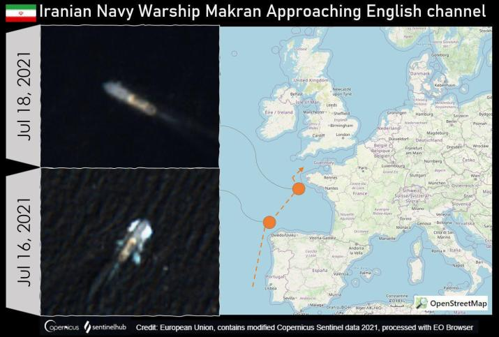 ifmat - Two Iranian warships spotted near English channel