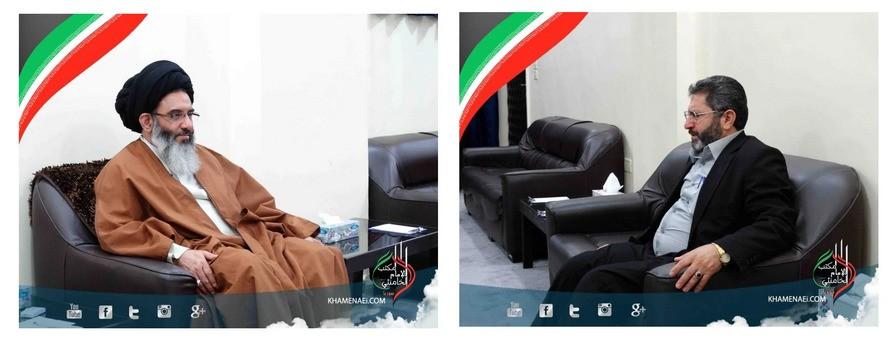 ifmat - Muhammad Amin al-Raja, right, is pictured alongside the Supreme Leader's envoy to Syria, Abolfazl Tabatabaei-Ashkazari