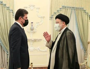 ifmat - President Barzani meets Iran Raisi