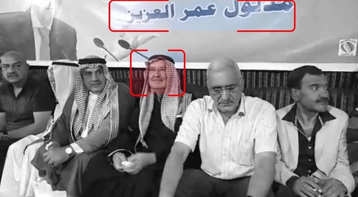 ifmat - ifmat - Al-Bashir on his way to one of the Al-Assad stands, accompanied by Syrian MP Madloul al-Aziz