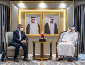 ifmat - Top Iranian official Bagheri meets Qatar FM in first visit to Doha