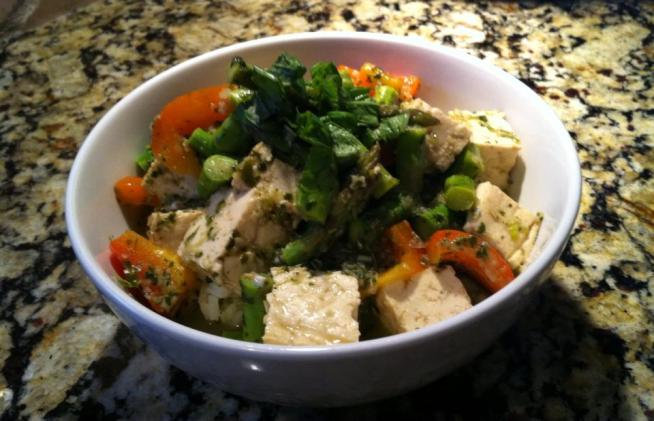 Vegetarian Thai Green Coconut Curry recipe (after)