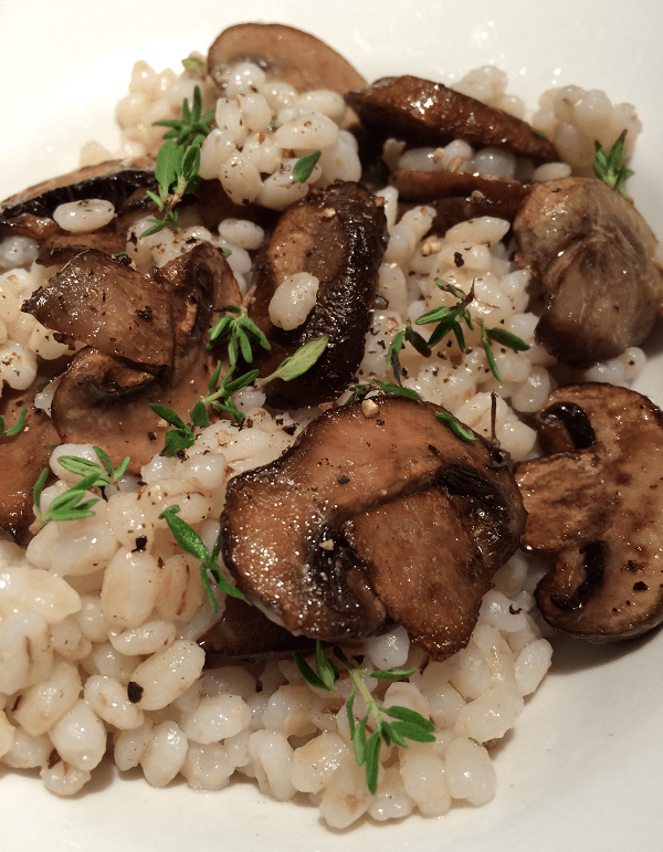 Mushroom and Barley Pilaf with Fresh Thyme