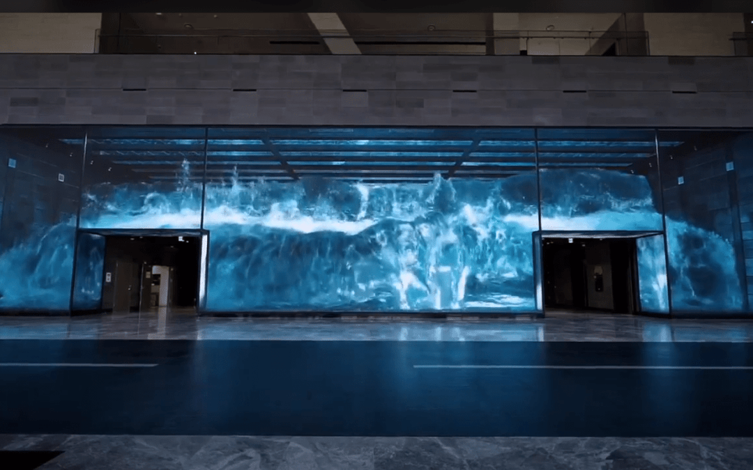 3D animation on a LED wall