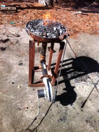 Rivet Forge with furnace fan - Forges - I Forge Iron