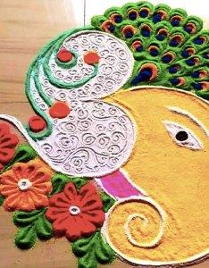 Iforher also beautiful ganpati rangoli design ideas for eco friendly rh