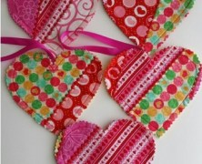 First Batch of Quilted Hearts