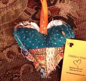 Orange String Heart