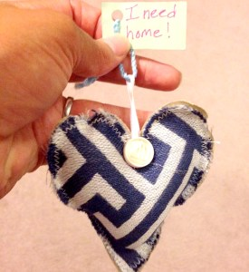 Blue and white heart FBX