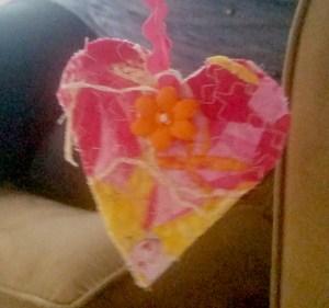 Pink Yellow Orange Heart WX