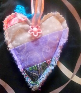 Beautiful Heart with Ddaisy Button WX