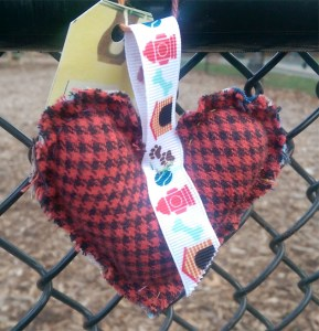 Red Plaid Heart WX