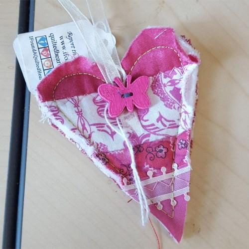 Pink Butterfly Heart