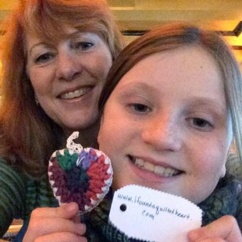 happy find crochet heart  WX