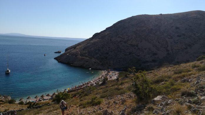 Spiaggia di Oprna altra sosta di una settimana in Istria
