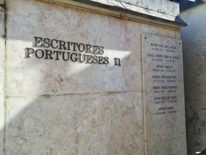 sezione scrittori al cimitero dos prazeres