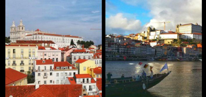 È più bella Lisbona o Porto?Panorami delle città