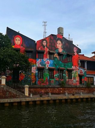 Street art per una Gita una giornata a Malacca