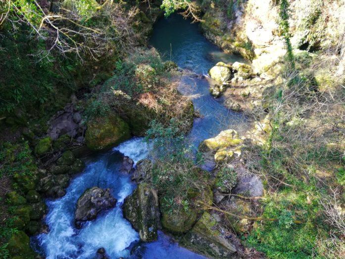 vegetazione che si incontra nel visitare la cascata delle marmore