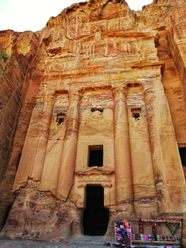 via delle facciate di petra in giordania