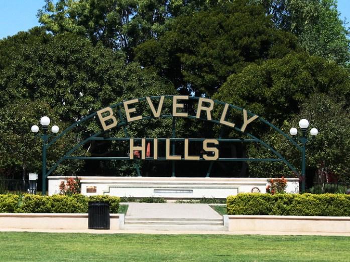 la scritta di beverly hills