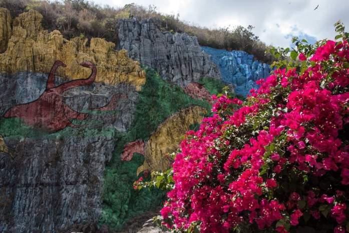graffito della valle di vinales
