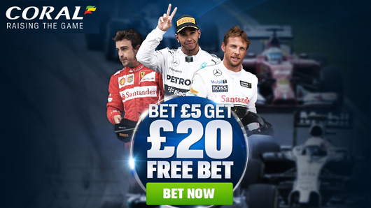 Coral F1 Betting