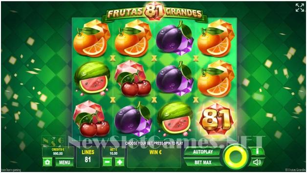 81 Frutas Grandes – Game Symbols