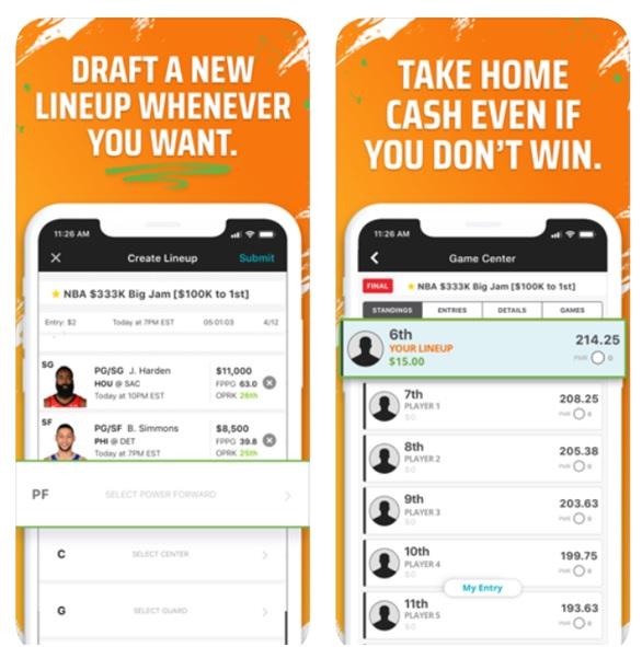 Draftskings app