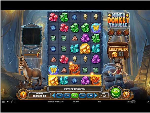 Miner Donkey Trouble slot features