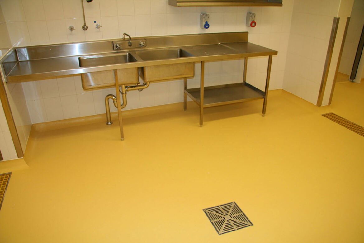 Food safe flooring ift for Parquet cuisine