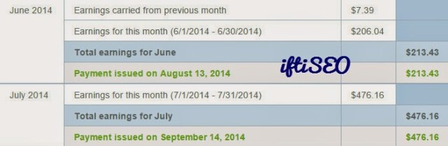 Random Month Earnings - JUNE JULY 2014