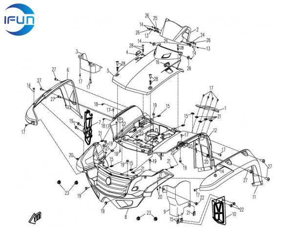 Cf Moto 500cc Wiring Diagram CF Moto Accessories ~ Elsavadorla