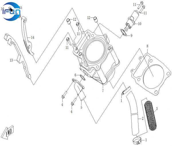 CF MOTO CF500 ECRANKCASE CYLINDER BODY,CF MOTO CF500 UTV