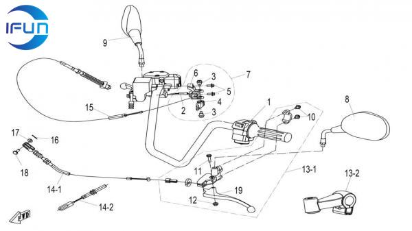 CF MOTO CF500 HANDLEBAR,CF MOTOR ATV PARTS,CF MOTOR UTV